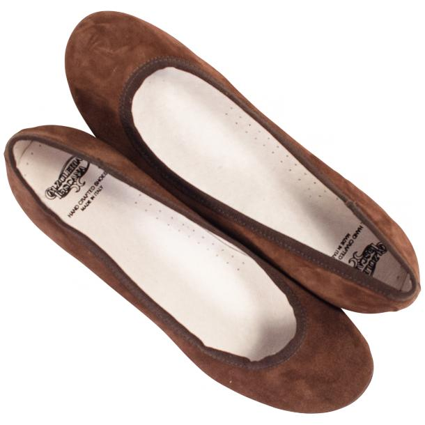 Denise Brown Suede Ballerina Flats full-size #2