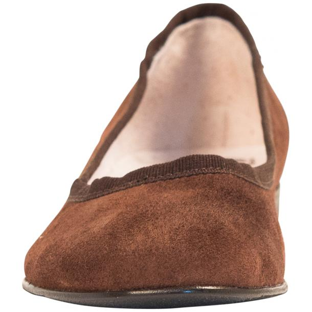 Denise Brown Suede Ballerina Flats full-size #3