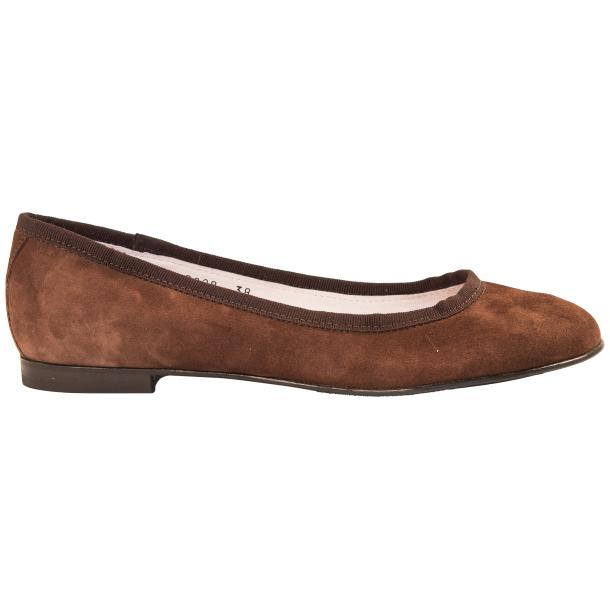 Denise Brown Suede Ballerina Flats full-size #4
