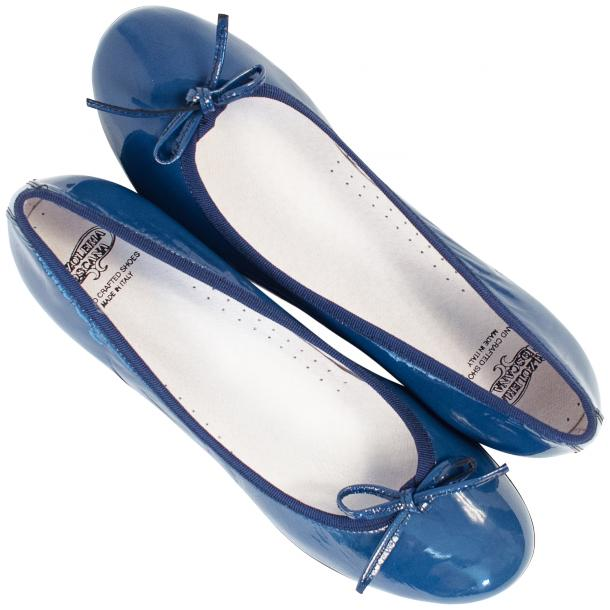 Lisa Jeans Blue Patent Leather Ballerina Flats full-size #2
