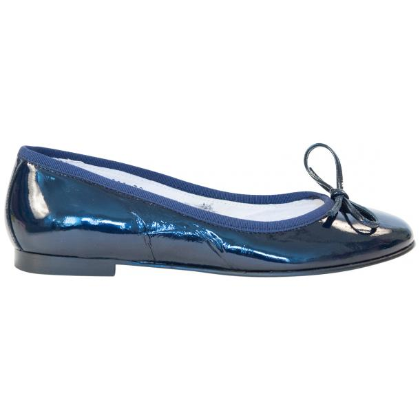 Alessandra Blue Patent Leather Ballerina Flat full-size #4