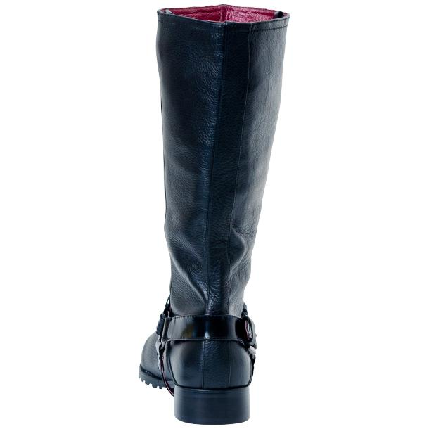 Kally Black Buffalo Leather Mid-Calf Boots with Detachable Buckles full-size #3