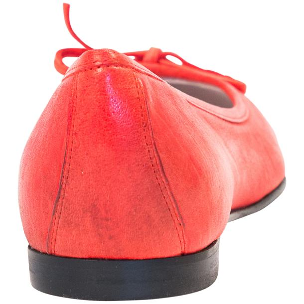 Helena Red Nappa Leather Dip Dyed Bow Ballerina Flats full-size #3