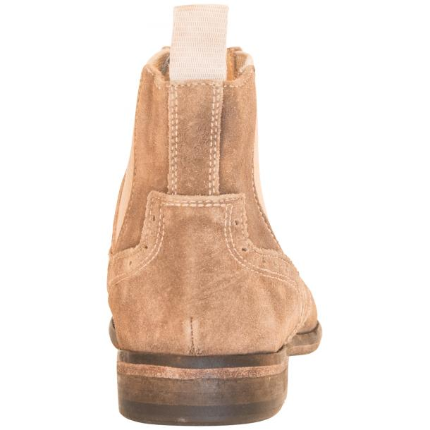 Leila Beige Suede Wing Tip Dip Dyed Chelsea Boot full-size #5
