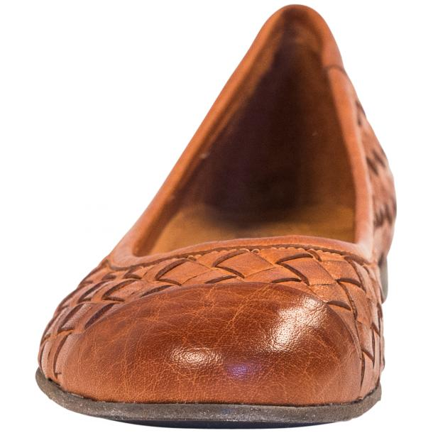 Kate Dip Dyed Coker Brown Woven Leather Ballerina Flats full-size #3