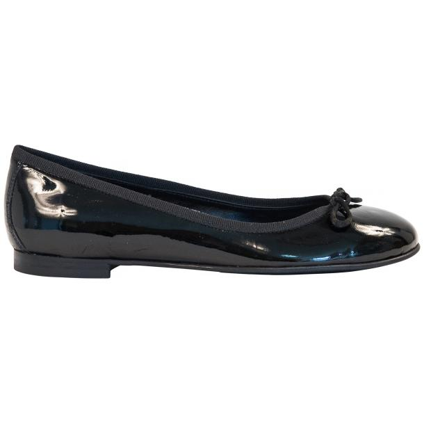 Lisa Black Patent Leather Ballerina Flats full-size #4