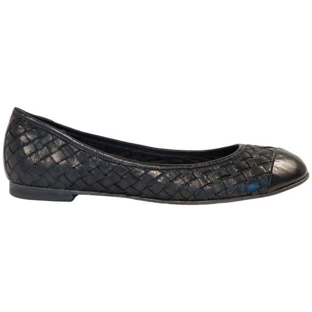 Kate Dip Dyed Black Woven Leather Ballerina Flats full-size #4