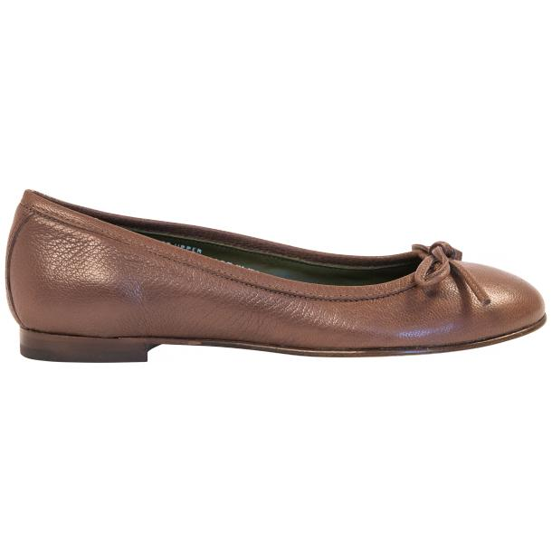 Diamond Brown Dip Dyed Nappa Leather Bow Ballerina Flat full-size #4