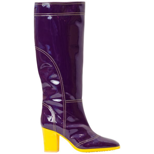 Maria Purple Tall Rain Boots full-size #3