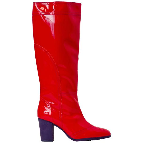 Maria Red Shiny Leather Tall Boots full-size #3