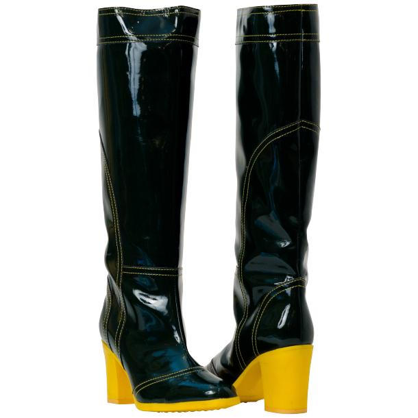 Maria Black Shiny Leather Tall Boots full-size #1