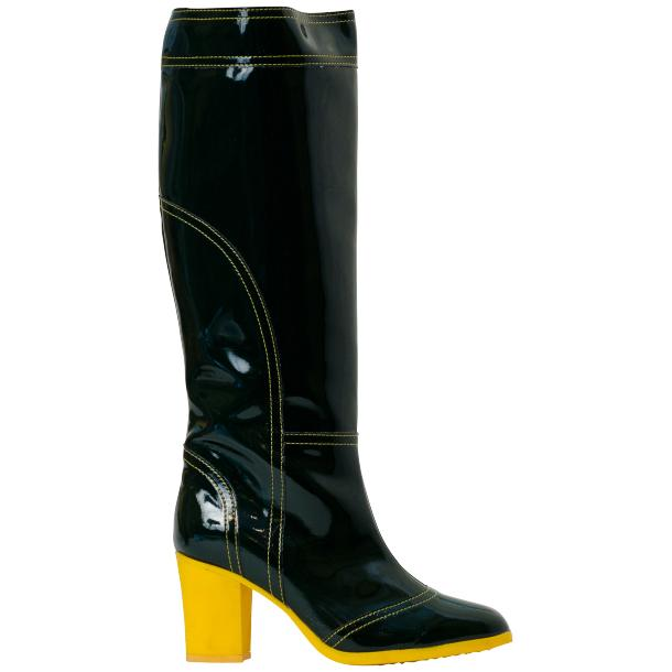Maria Black Shiny Leather Tall Boots full-size #3