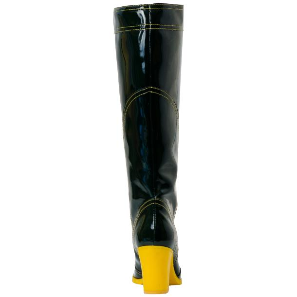 Maria Black Shiny Leather Tall Boots full-size #4