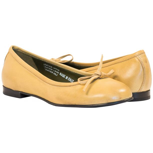 Diamond Lemon Nappa Leather Bow Ballerina Flat  full-size #1