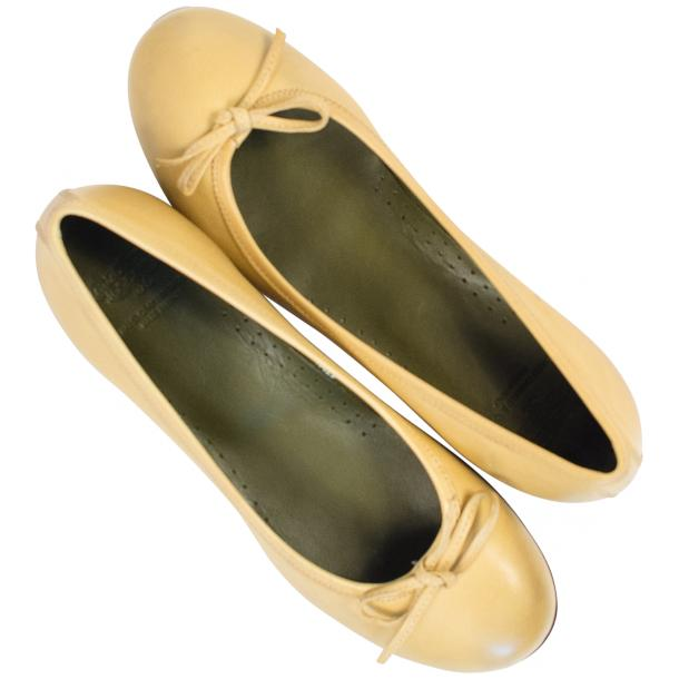 Diamond Lemon Nappa Leather Bow Ballerina Flat  full-size #2