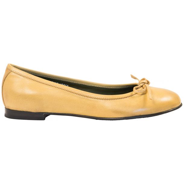 Diamond Lemon Nappa Leather Bow Ballerina Flat  full-size #4