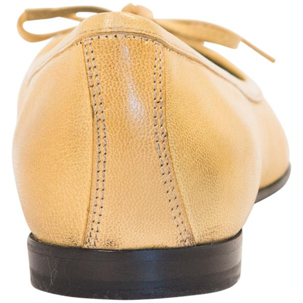 Diamond Lemon Nappa Leather Bow Ballerina Flat  full-size #5