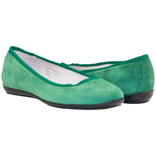 Mimi Green Dip Dyed Suede Ballerina Flats full-size #1