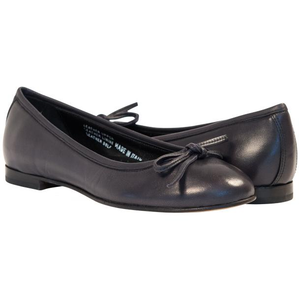 Nadia Black Dip Dyed Nappa Leather Bow Ballerina Flat full-size #1