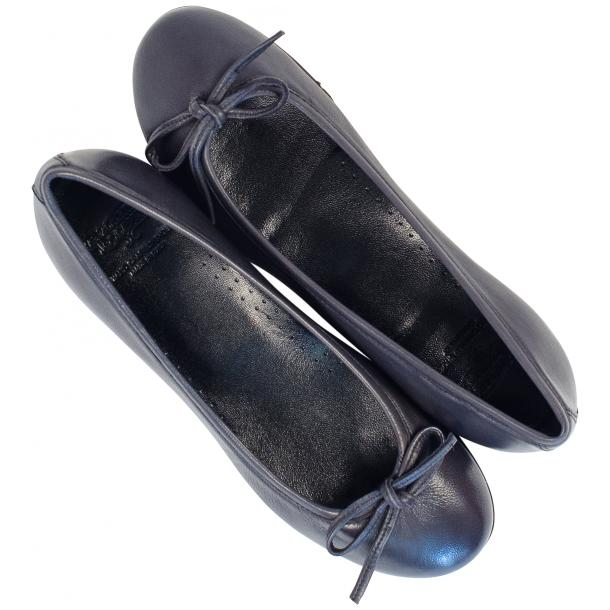 Nadia Black Dip Dyed Nappa Leather Bow Ballerina Flat full-size #2