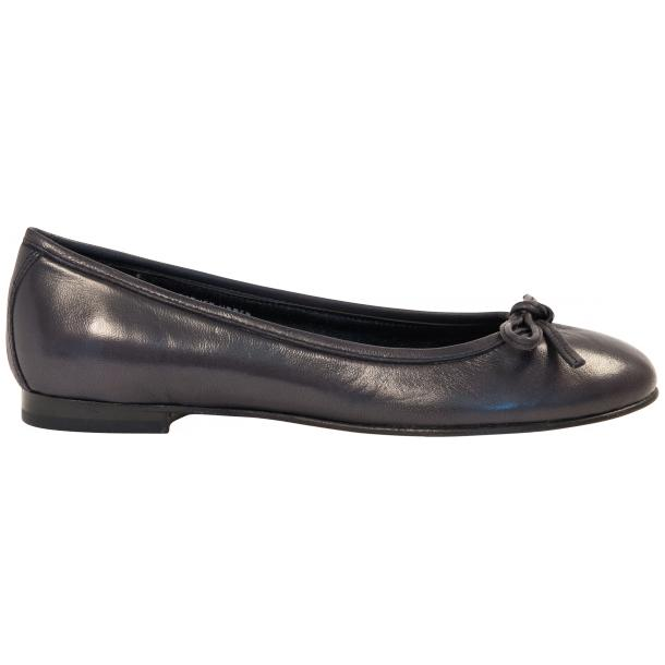 Nadia Black Dip Dyed Nappa Leather Bow Ballerina Flat full-size #4