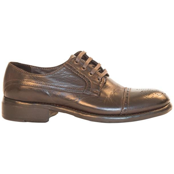 Diana Dip Dyed Brown Leather Cap toe Lace Up Shoes full-size #4