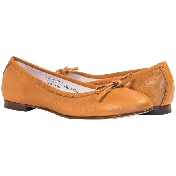 Abbie Brick Dip Dyed Nappa Leather Bow Ballerina Flat  full-size #1