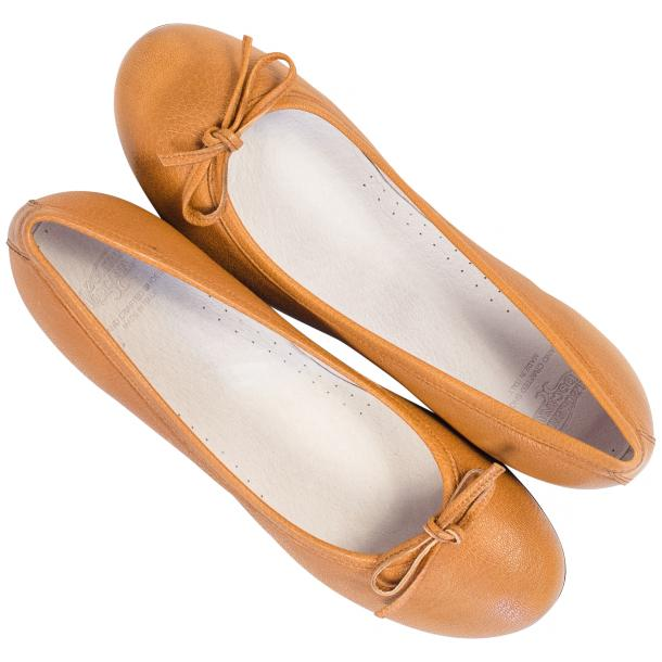 Nadia Brick Dip Dyed Nappa Leather Bow Ballerina Flat  full-size #2