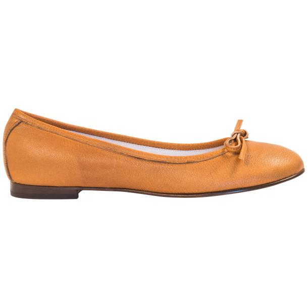 Abbie Brick Dip Dyed Nappa Leather Bow Ballerina Flat  full-size #4
