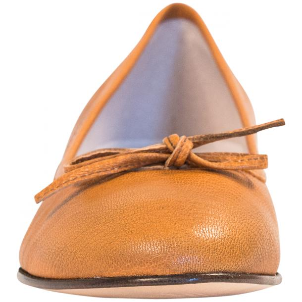 Abbie Brick Dip Dyed Nappa Leather Bow Ballerina Flat  full-size #3