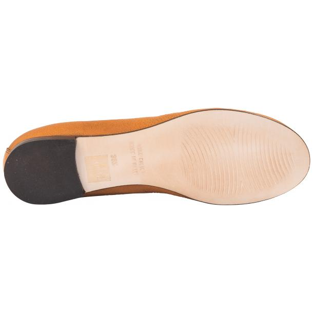 Nadia Brick Dip Dyed Nappa Leather Bow Ballerina Flat  full-size #6