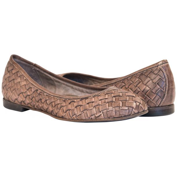 Victoria Dip Dyed Rope Leather Woven Ballerina Flats full-size #1