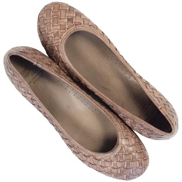 Victoria Dip Dyed Rope Leather Woven Ballerina Flats full-size #2