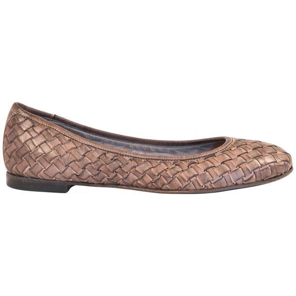 Victoria Dip Dyed Rope Leather Woven Ballerina Flats full-size #4