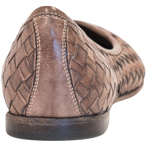 Victoria Dip Dyed Rope Leather Woven Ballerina Flats full-size #5