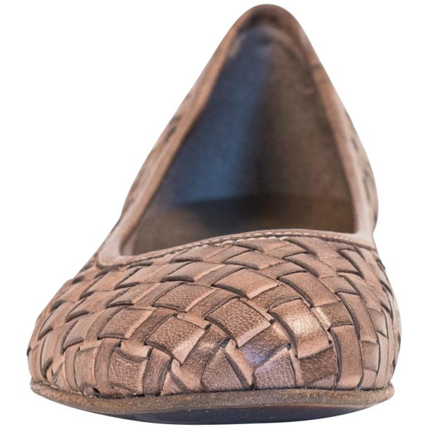 Victoria Dip Dyed Rope Leather Woven Ballerina Flats full-size #3