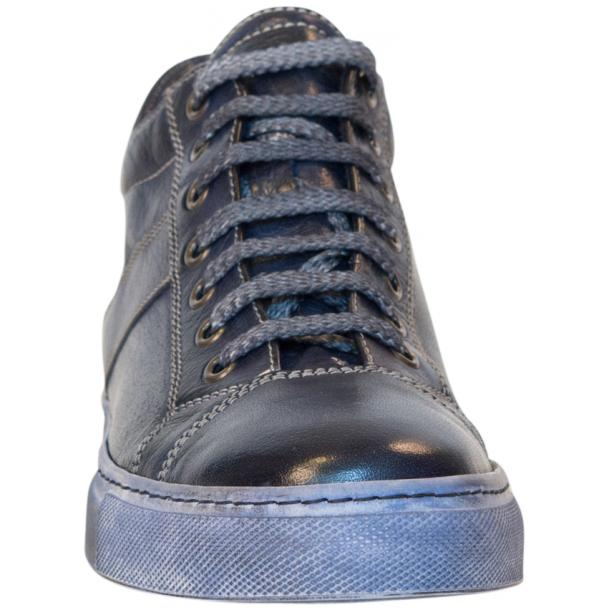 Amelie Dip Dyed Denim Blue Low Top Sneakers  full-size #3