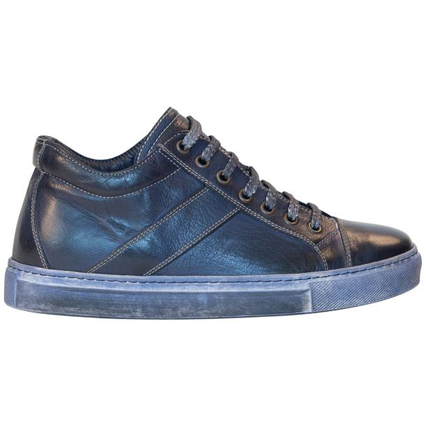 Amelie Dip Dyed Denim Blue Low Top Sneakers  full-size #4