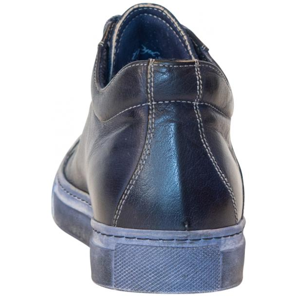 Amelie Dip Dyed Denim Blue Low Top Sneakers  full-size #5