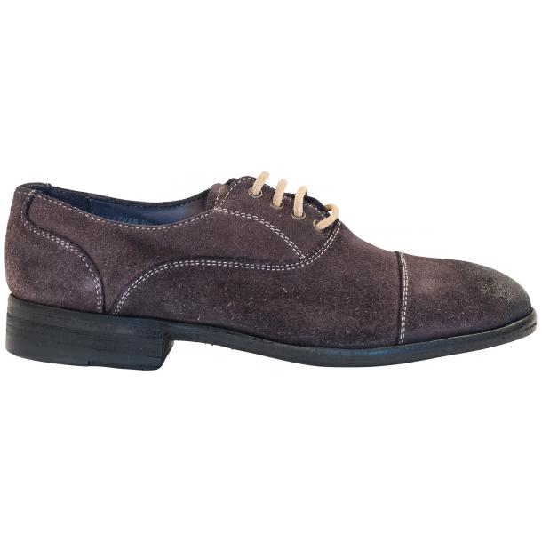 Natalie Dip Dyed Graphite Dark Grey Suede Oxford Shoes full-size #4