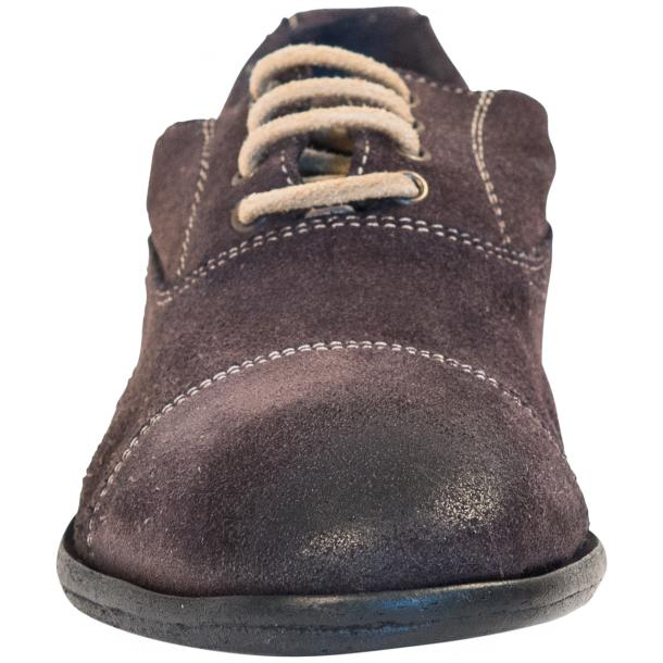 Natalie Dip Dyed Graphite Dark Grey Suede Oxford Shoes full-size #3