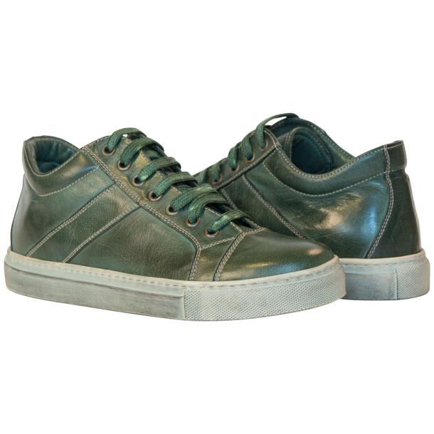Amelie Dip Dyed Green Low Top Sneakers  full-size #1