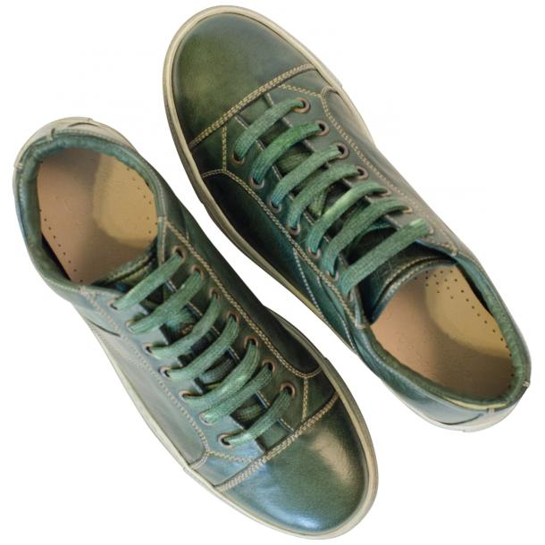 Amelie Dip Dyed Green Low Top Sneakers  full-size #2