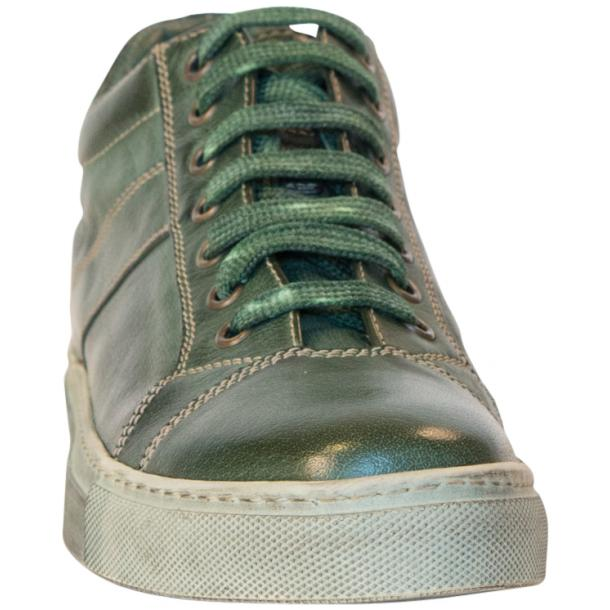 Amelie Dip Dyed Green Low Top Sneakers  full-size #3