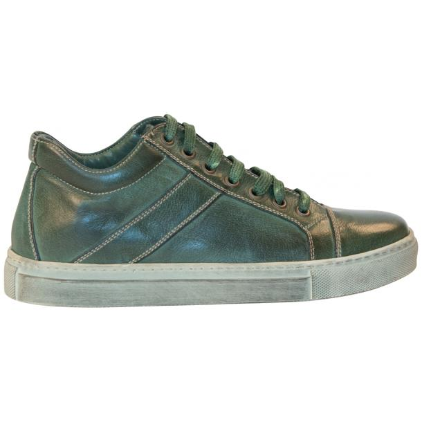 Amelie Dip Dyed Green Low Top Sneakers  full-size #4