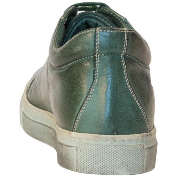 Amelie Dip Dyed Green Low Top Sneakers  full-size #5
