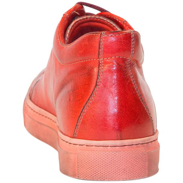 Amelie Dip Dyed Flame Red Low Top Sneakers  full-size #5