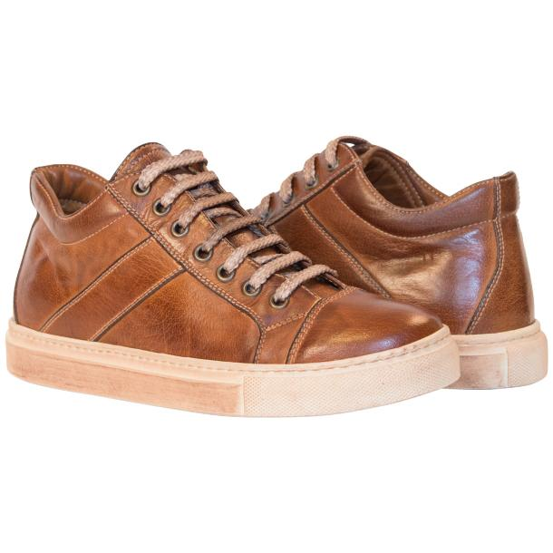 Liza Dip Dyed Brown Low Top Sneakers  full-size #1