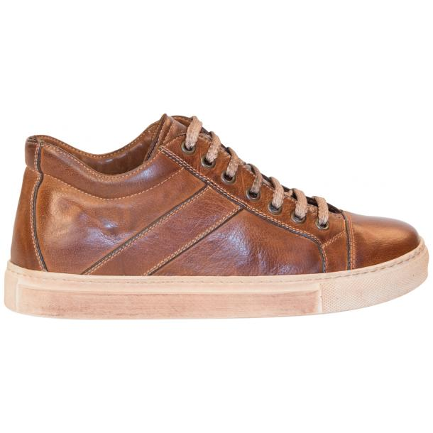 Liza Dip Dyed Brown Low Top Sneakers  full-size #4