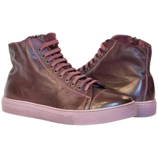 Nova Dip Dyed Oxblood High Top Sneaker full-size #1